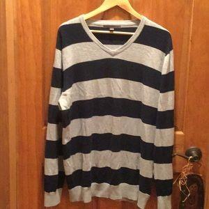 Man striped v neck sweater by Old Navy